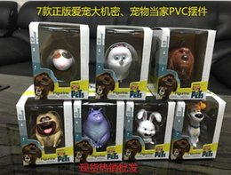 Wholesale 2016 The Secret Life of Pets styles CM PVC animation model of high quality boxed kids anime toys Christmas gift Toys truelovewangwu