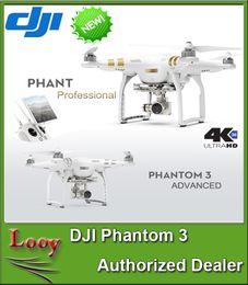 2016 4k caméra drone DJI Phantom 3 Appareil photo numérique Drones UHD 4K Vidéo Appareil photo photo 12 mégapixels Vision HD en direct Positionnement Vision pour vol intérieur peu coûteux 4k caméra drone
