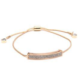 Wholesale Sunshine colors adjustable crystal shining bracelet gold silver black open bangles fashion fine luxury jewelry forever love