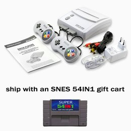 Wholesale snes console hot sell best children gift NTSC version and PAL version both ship wiht an SNES gift cart IN1