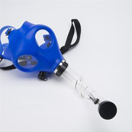 Wholesale DHL Solid Mixed Colored Luminous Silicon Gas Mask Pipe Gas Mask Bong Color Glow In Dark Smoking Filter Silicone