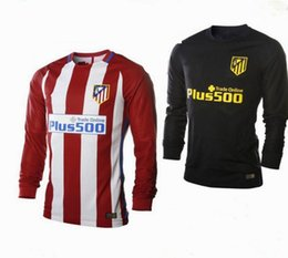 Wholesale customzied name number La Liga Atletico Home Away Madrid Long sleeves Rugby Jersey best quality football shirt