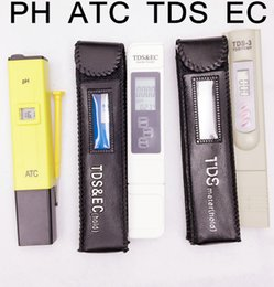 Wholesale hot selling Acid tester PH with ATC Meter TDS Tester EC meter conductivity meter water measurement tool Function in ppm device