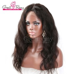 Wholesale 360 Lace Frontal Wig inch Brazilian Hair Greatremy Unprocessed Human Hair Body Wave Full Lace Band Frontal with Baby Hair