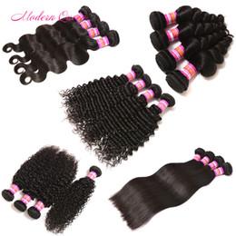 Wholesale straight body loose deep wave curly hair afro kinky human hair weave Malaysian bady wave Cheap straight human hair weave bundles