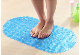 Wholesale Safety Non Slip Tub Shower Bath Mat Sandy Stone Design Mildew Mold Resistant Bathmat