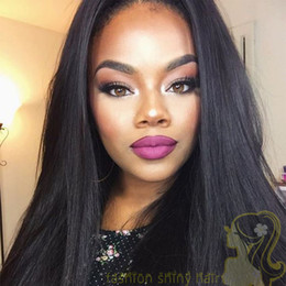 Natural Hairline Human Hair Wigs Silky Straight Peruvian Hair Lace Front Wigs Glueless Full Lace Wigs With Baby Hair