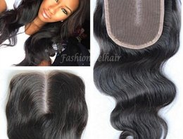 "7A Lace Closure Bleached Knots Brazilian Body Wave Closure Human Hair Top Lace Closure Free Part Middle Part 3 Way 4""x4"""