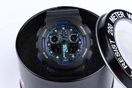 Wholesale New dual display sports watch ga100Display LED Fashion army military watches men Casual Watches G0023