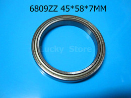 6809ZZ bearing Metal sealed Thin wall bearing free shipping 6809 6809ZZ 45*58*7mm chrome steel deep groove bearing