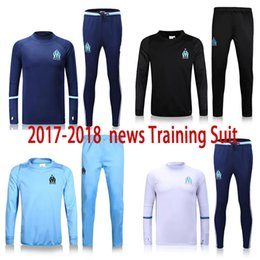 free shipping 17 18 Marseille Soccer jerseys Men's Jackets+Pants Sport Clothes Jogging Football Training Suit Fashion Outerwear Tracksuit