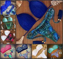 Wholesale Summer Hot Sale Women Brazilian Low Waist Print Bikini Set Swimwear Brand Swimsuit Bathing Suit Maillot De Bain Biquini Beachwear Brazilian