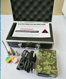 Wholesale Newest E nail rig electronic dabbing nail wax dab tool PID TC controll box with Titanium domeless nails E nail D nail kits