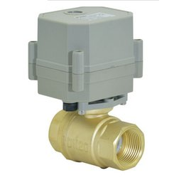Wholesale DN20 Brass Timer Controlled Motorized Automatic Drain way motorized valve electric motorized valve kinds of size