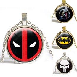 Wholesale Glass Dome Pendant Necklace Deadpool Necklace Deadpool Symbol Pendant Personalized Picture Necklace