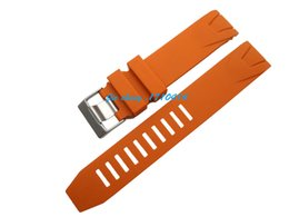 Free Shipping 20mm (Buckle 20mm) NEW TOP GRADE Orange Waterproof Diving Silicone Rubber Watchband Bands Straps FOR OMEGA WATCH