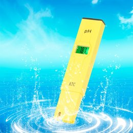Wholesale Pen temperature Compensation ATC LCD Acid aquarium Water Quality salt pool tester aqua medidor de pH Meter Acidometer Analyzer