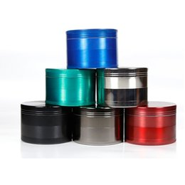 Colorful Herb Grinder smoking grinder size CNC grinder metal cnc teeth tobacco grinder 4 parts design Grinders For Tobacco