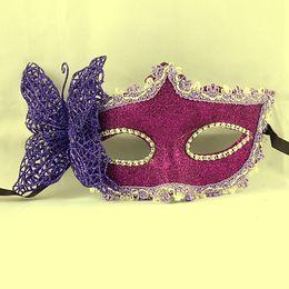 Party props mask pink powder pink Enchantress mask Masquerade Mask Valentine's Day