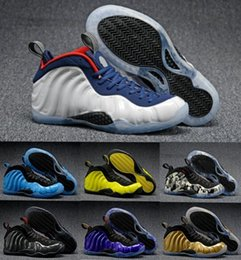 Wholesale Top Quality Foamposites Basketball Shoes Sneakers Men s Women White Man One Pro Sports Foamposites Shoes Pearl Penny Hardaways Size