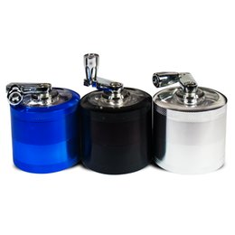Formax420 2 Inch 4 Piece Metal Sharkteeth Handle Grinder Muller With Pollen Catcher 3 Colors Free Shipping