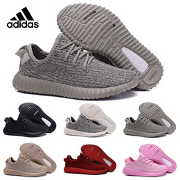 Wholesale Classic Women Running Shoes - Adidas Yeezy Boosts 350 Kanye West Yeezy 350 Classic Black 350 Men Tan Yeezy Trainers Shoes Perfect 2016 Yeezy 350 With Original Box