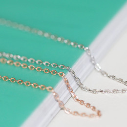 New Fashion 100% Real Pure 925 Sterling Silver Chain Thin Link Necklace 51cm Silver Thin Chain Women Jewelry