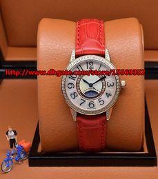 Luxury business fashion classic noble precision imported quartz diamond moon rose gold case waterproof belt Beautiful Ladies Watch