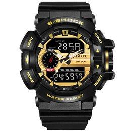 Wholesale 50 meters waterproof Brazil selling a reveals the depth of waterproof shockproof mountaineering brand name fashion outdoor sports watch men