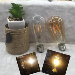 Wholesale ST64 LED lamp Antique Retro Vintage leds E27 W V Edison led Light Bulb Incandescent Light Squirrel cage Led Filament Bulb