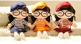 Wholesale 2016 New autumn toys original cute child doll plush toy doll doll doll girl birthday gift for Christmas gift colors