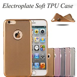 For Iphone 6 Case Electroplate Soft TPU Case Colorful Ultra-thin Soft Cover Case For Iphone 6S Plus 5S With SCA165
