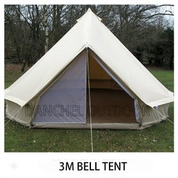 Wholesale D amp R Metter Feet Diameter Canvas Bell Tent Outdoor All Season Sun Shade Travel Glamping Tipi Waterproof Family Camping M