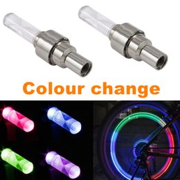 Wholesale Colorful transform LED Bike Wheel light RGB AG10 Bicycle Tyre Valve Cap waterproof Super bright Warning llight security lamp tire ornamental