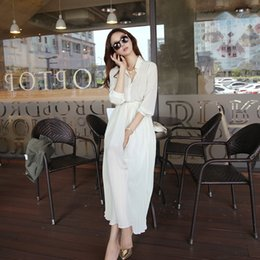 Summer Korean style fashion female chiffon long casual beach dress with lining outfits for women,summer dresses beach kaftan shirt dres