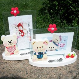 Wholesale inch picture frames cute cartoon bear photo frame for kids best birthday gifts