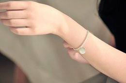 Wholesale 2016 contracted fashion and personality in the latest fashion silver bracelet trend silver beads pendant bracelet manufacturer a u