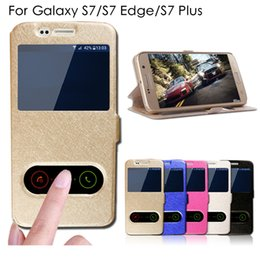 Wholesale Luxury S7 Silk Pattern Flip Cover For Samsung Galaxy S7 S7 Edge S7 Plus Case PU Leather Phone Bags Cases With Stand Function