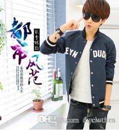 Coton ouaté korean veste de baseball à vendre-Sport Plein de style Hommes coréenne Zip Hoodie Fleece classique All-match de Coat Baseball Jacket Cardigan Fashion Men