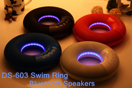 2015 New Hot Pulse Portable Wireless Bluetooth Speakers Support AUX TF Card U-disk Audio Player Music Speaker DS-603 Swim Ring Shape