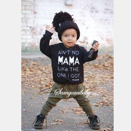 Wholesale 2pcs Newborn Infant Baby Boys Kids Fashion Clothes Sets baby Letter Long T shirt Long Pants Outfits Sets hight quality