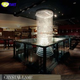 Wholesale ART K9 Crystal Chandelier Villa Hotel Project Crystal Droplight Lustre Rectangle Chandelier Hanging Lamp Spiral Crystal Lightings