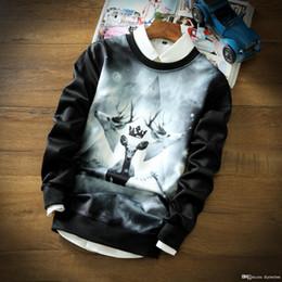 Promotion coton ouaté korean veste de baseball Automne Hiver Hoodies japonais et style coréen de qualité supérieure de Deer Espace d'impression Coton Veste de baseball Sport Coat