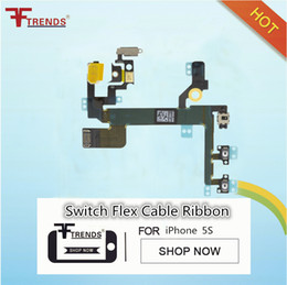 Power Mute Volume Button Switch Flex Cable Ribbon for iPhone 5s Power On Off Control Flex Cable Free Shipping