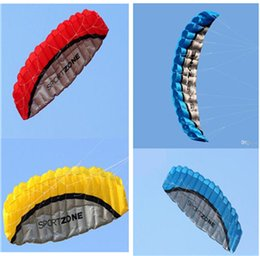 Wholesale 2016 BEST SELLING Outdoor Sports m Power Soft Kite Dual Line Stunt Parafoil Kite with Handle m Line Y1715