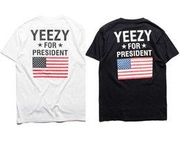 Wholesale 2016 new style YEEUS T Shirt Kanye West Yeeus For President Shirt Obama American Flag T Shirt Kanye West USA Fashion YEEZUS T Shirts Stree