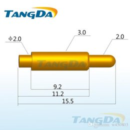 Wholesale Tangda pogo pin connector DHL EMS D3 mm A Spring thimble Battery connector probe Gold plated copper large current antenna
