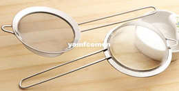 Wholesale 4 Stainless Steel Strainers Mesh Sieve Pasta Strainer Colanders Kitchen Tools Gadgets for Tea Noodle Maker