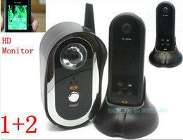 Wholesale HD quot Monitor amp outdoor camera Wireless Ghz Door Video Phone Camera Viewer Auto Taking Photos