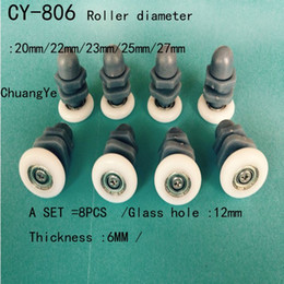 Wholesale 19mm mmDiameter Shower Door Roller Runners Wheels Plastic Pulley for mm Glass
